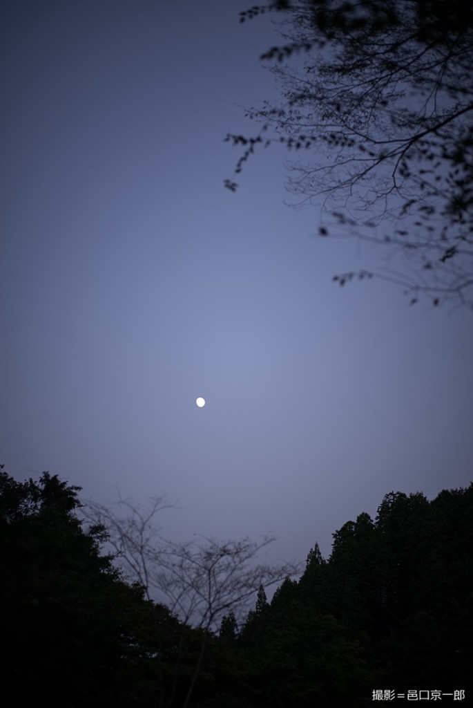 山小屋から望む夜空