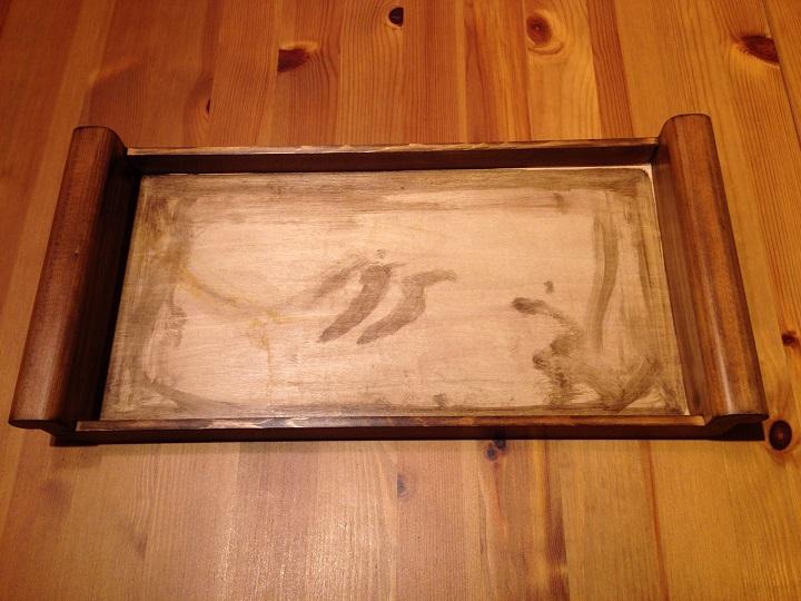 木製トレイ塗装済み
