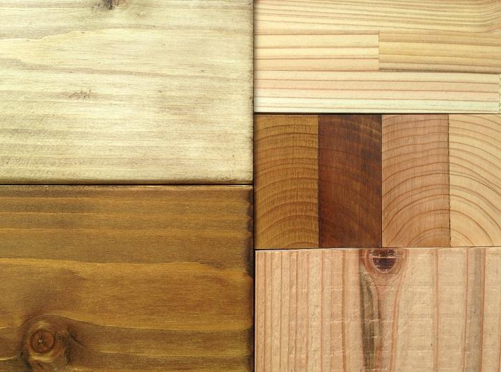 木材着色サンプル