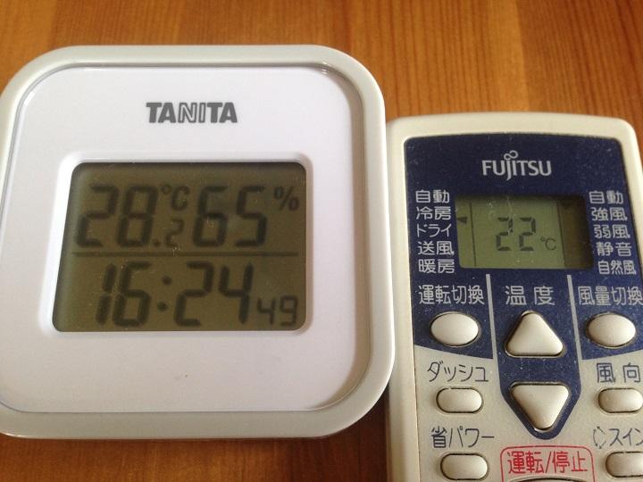 温度計とリモコン