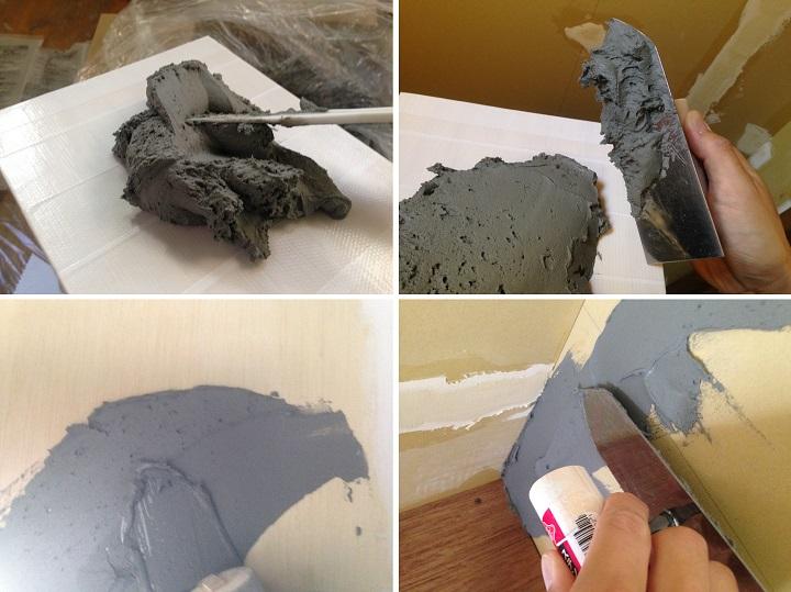 珪藻土を壁に塗る