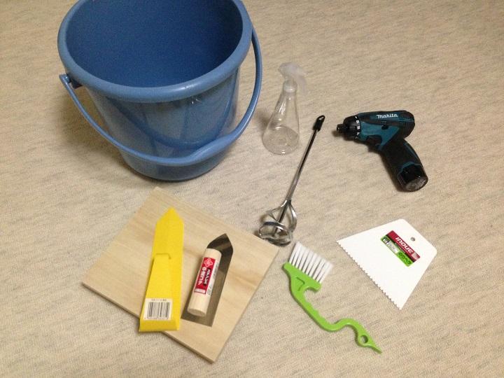 珪藻土施工道具