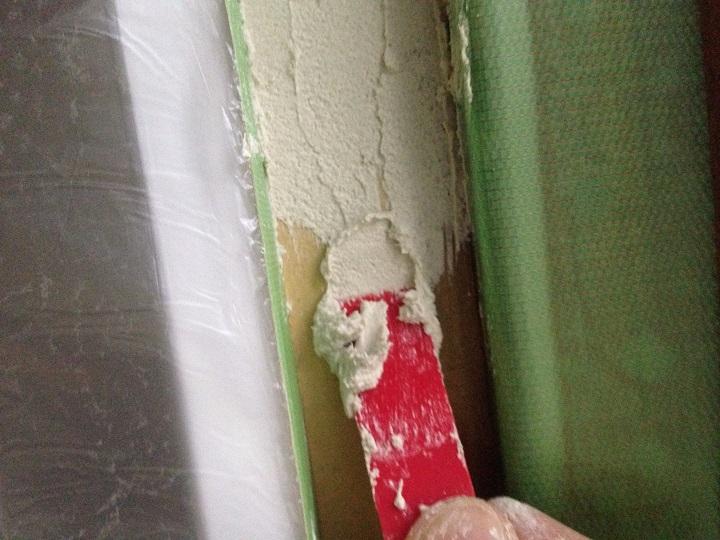 細部に珪藻土を施工