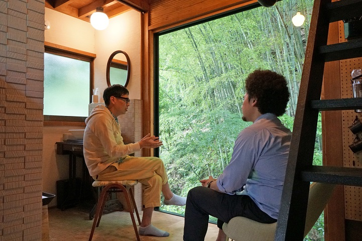 室田さんとの対談風景