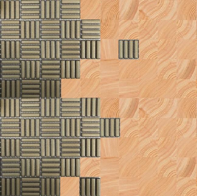 コグチタイルとモザイクタイルのミックスイメージ