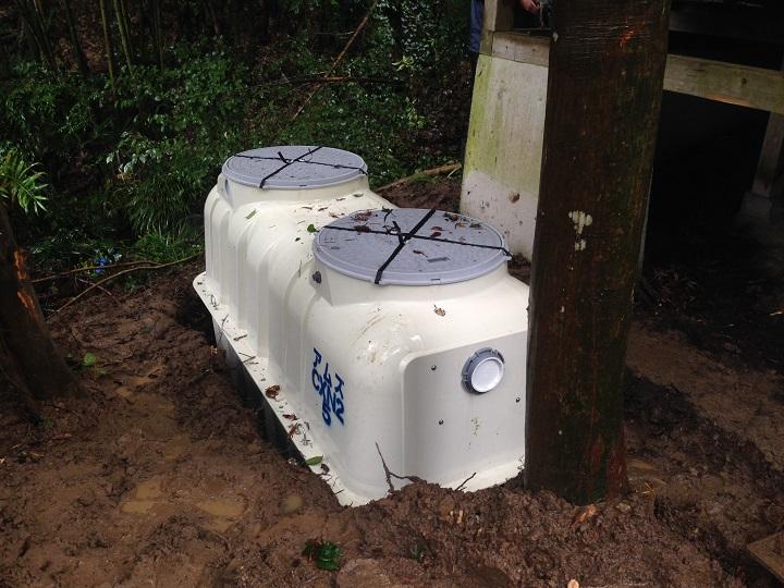 浄化水槽設置当時
