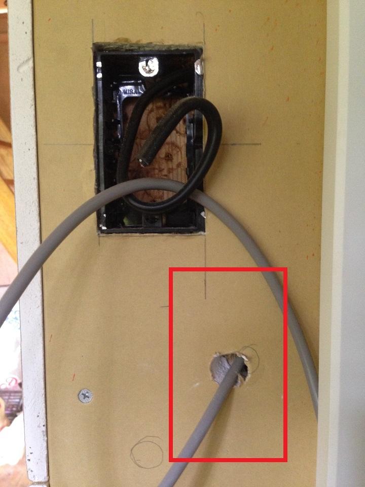 操作パネルが設置されるはずの壁