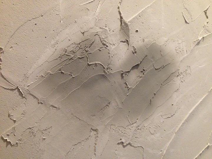 珪藻土を塗った跡
