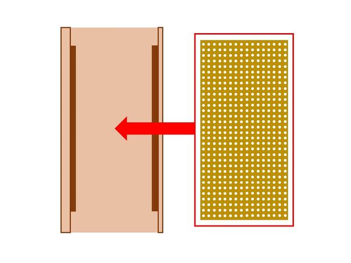 ペグボードの設置イメージ図