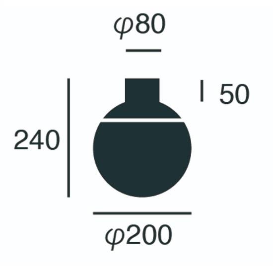 グルーブシーリングランプ・サイズ表