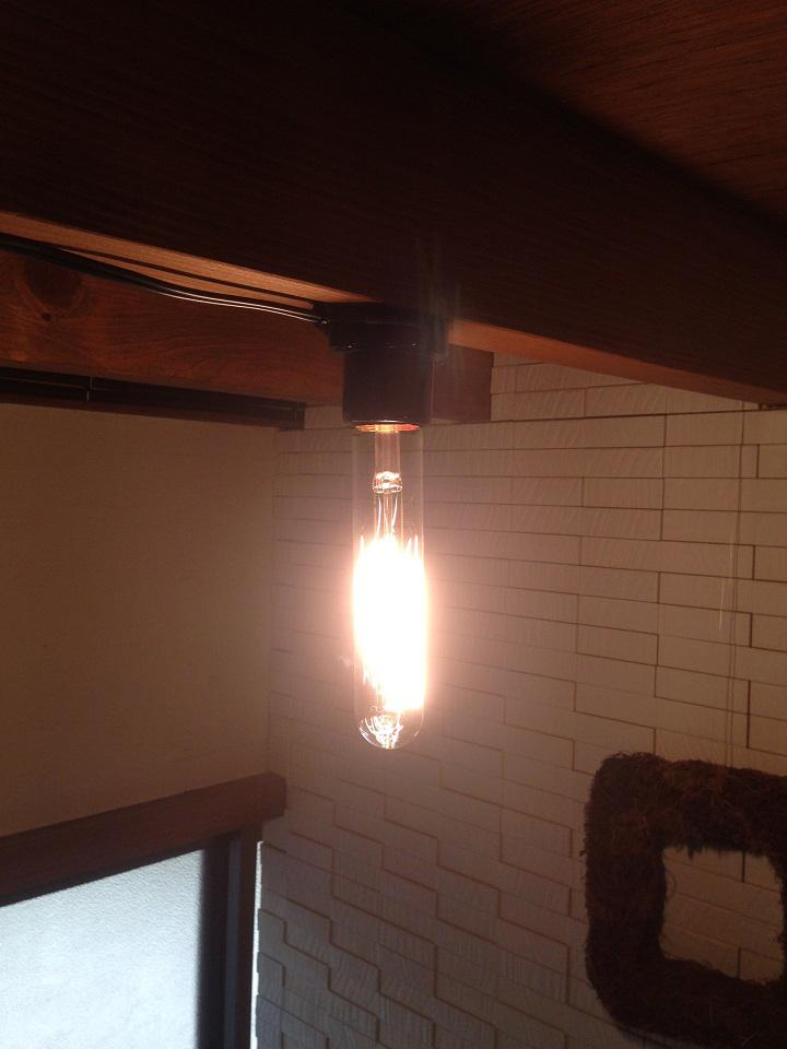 電球が点灯