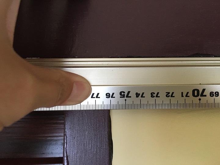 壁の幅は76センチを測る