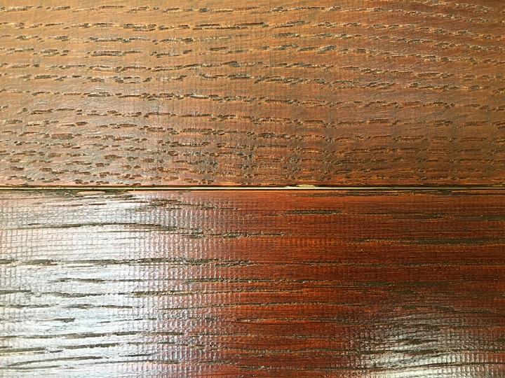 木材と木材の間に残ったスキマ
