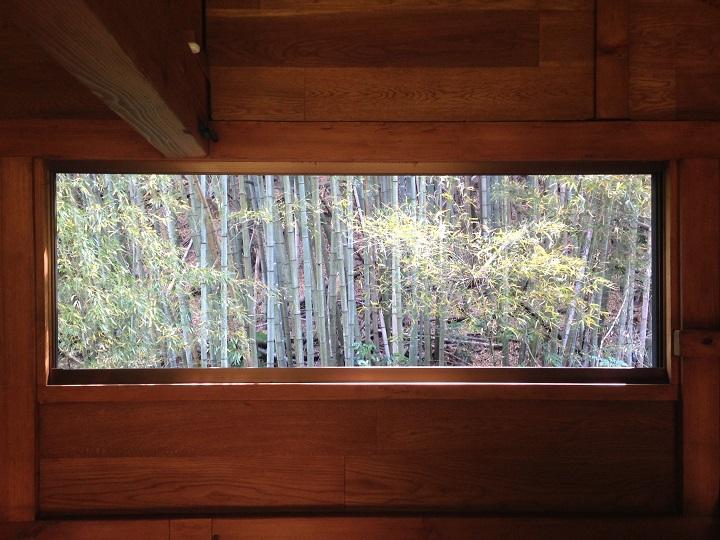 窓を外した窓からの眺め