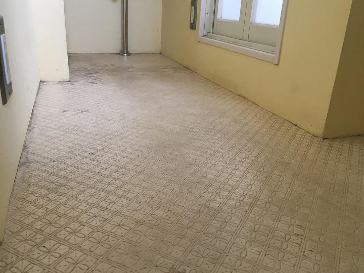 工事前の洗面の床