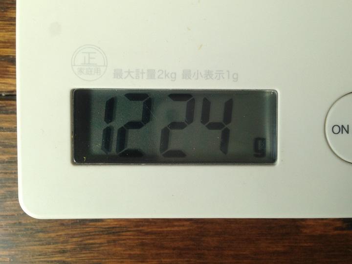 トレル110を計量