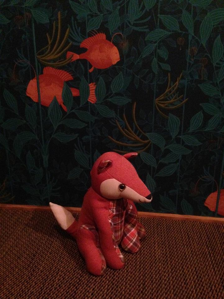 ローラアシュレイのキツネのドアストッパー