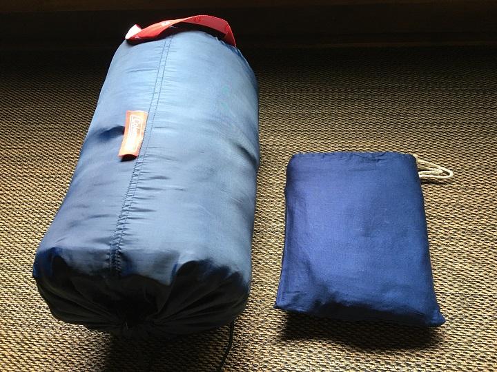 寝袋とインナーシュラフの比較