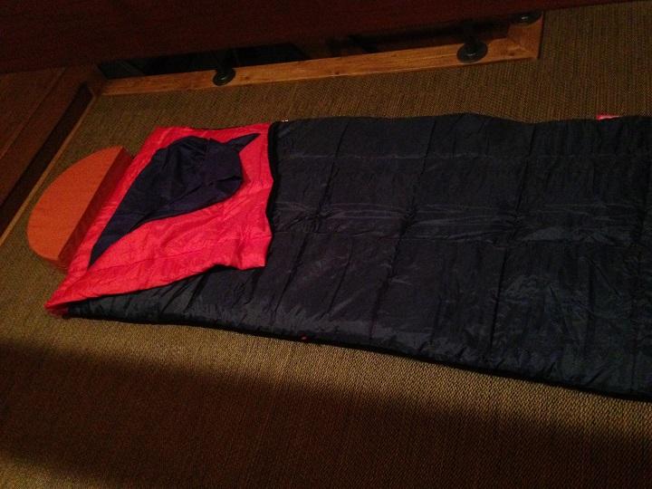 寝具のセット完了