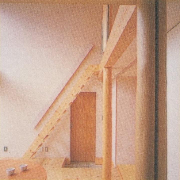 9坪ハウスの階段