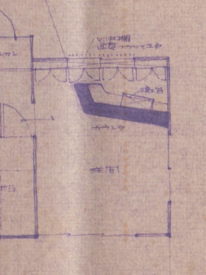 山小屋を建てる前の設計図