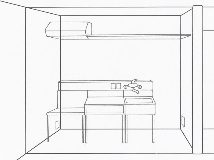 キッチン全体の構成案