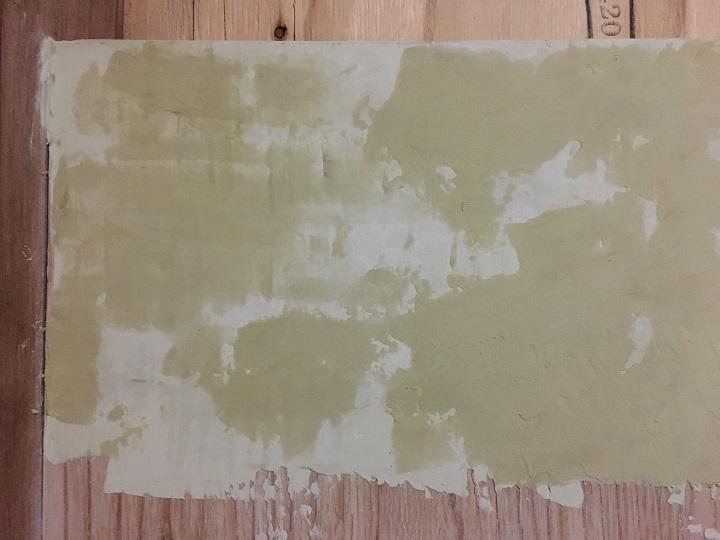 パテ塗り後のカウンター