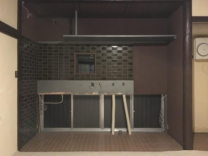 DIY完了したキッチン