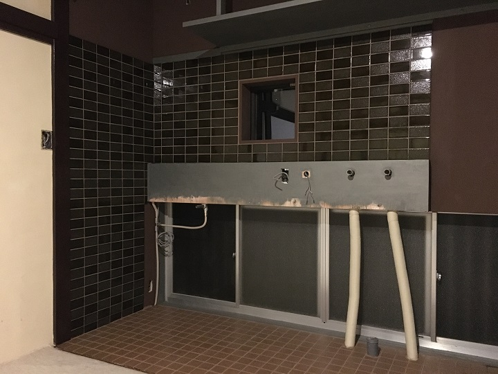 DIYが完了したキッチン