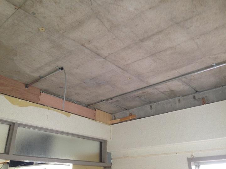 天井撤去後のマンション