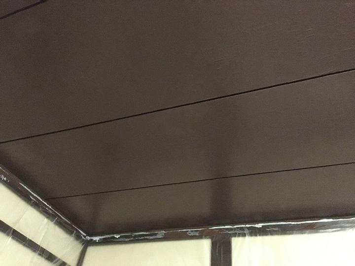 珪藻土塗料を塗った後の天井