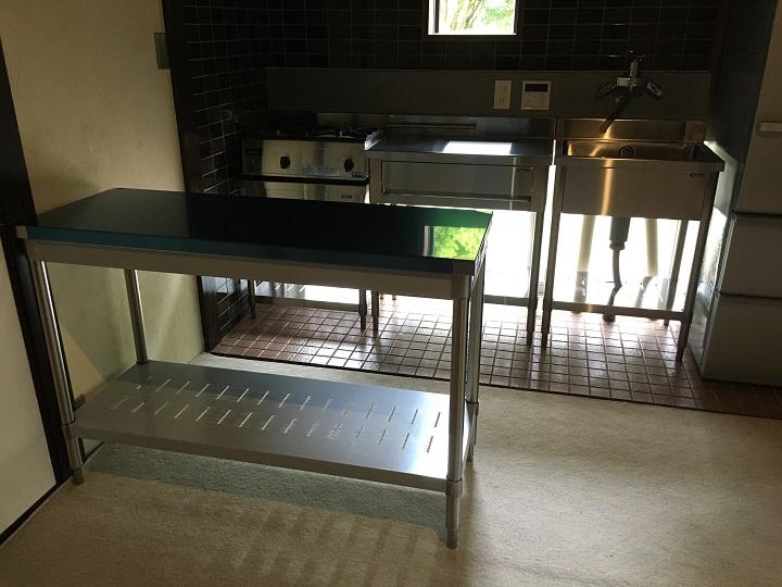 設置完了した業務用キッチン