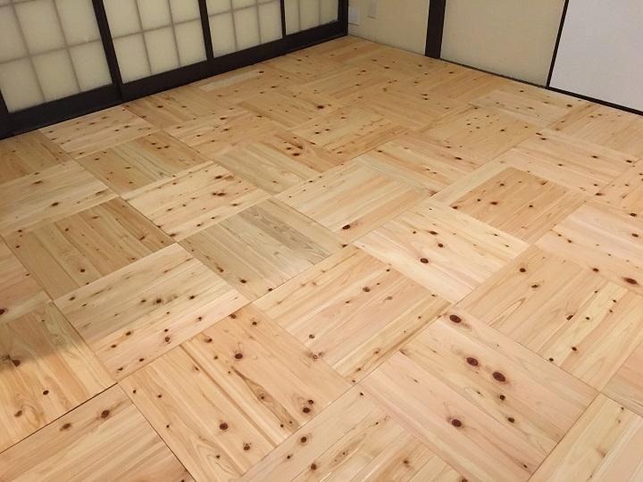 オスモカラー塗装後の床