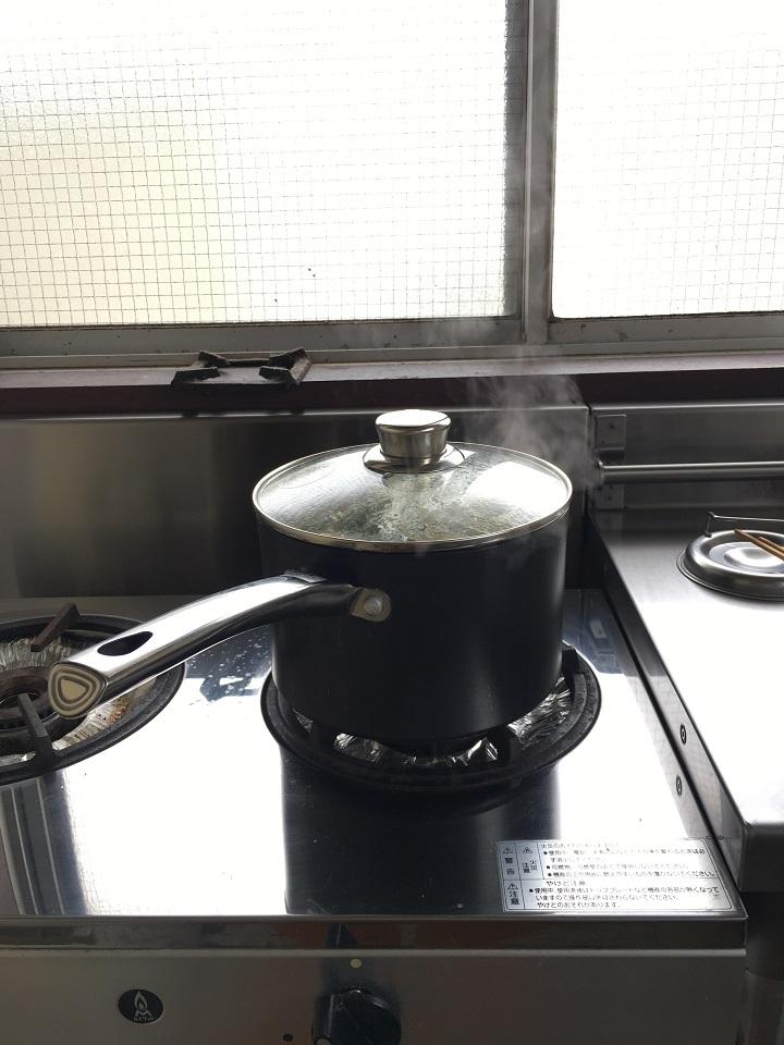 火にかけた鍋