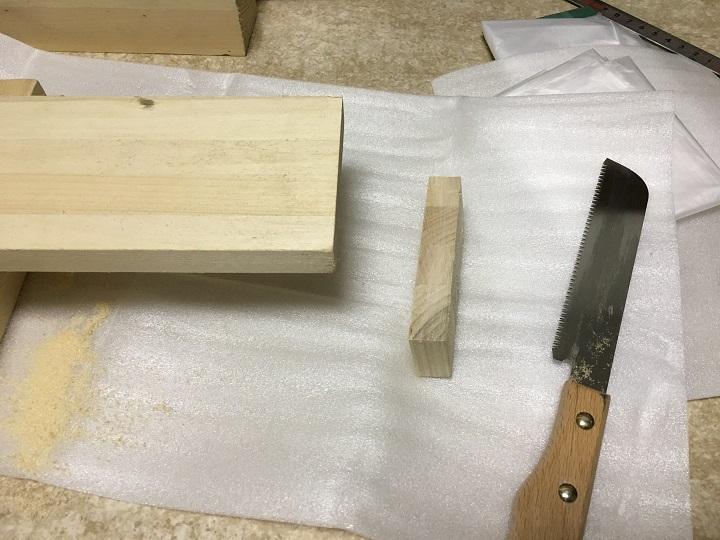 木材をカット