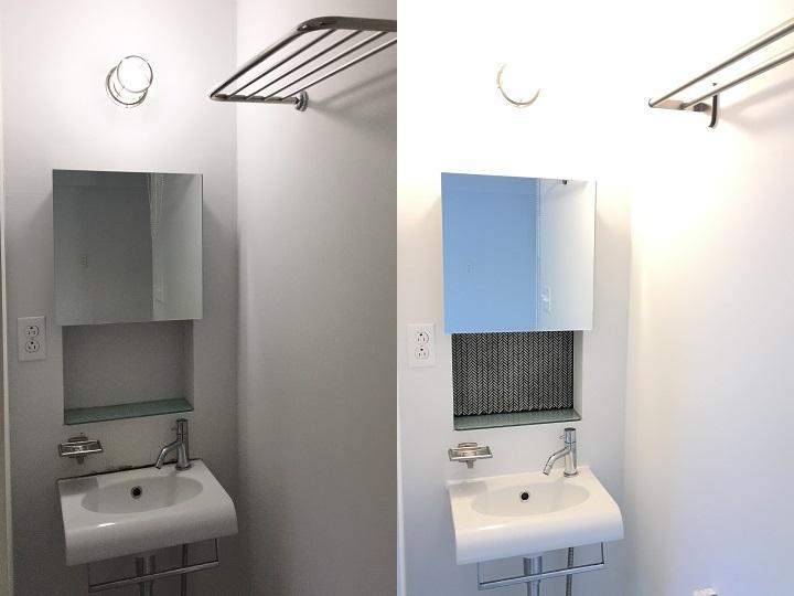 洗面のビフォーアフター比較