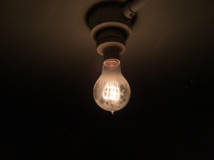 エジソンバルブ点灯時