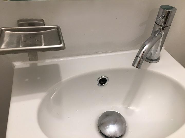 シーリング後の洗面