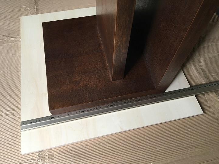 天板にテーブルをのせる