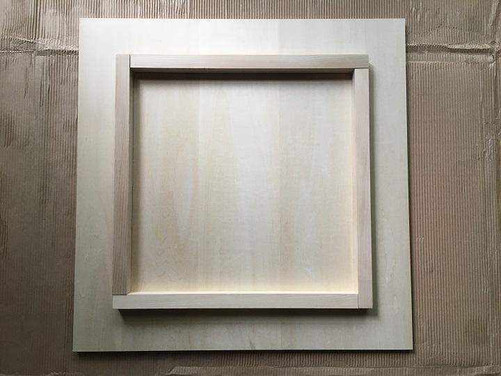 天板への木枠の取り付けが完了