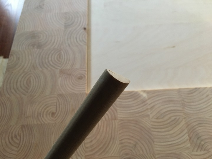 半円形の断面の木材