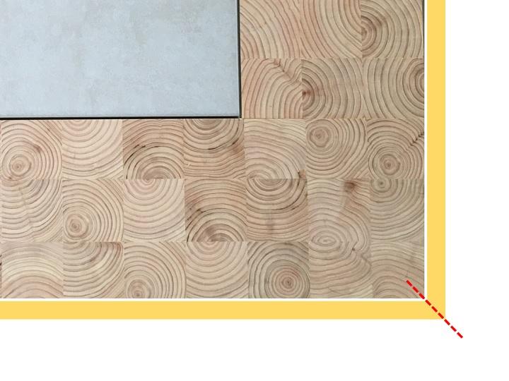 木材の貼り付けイメージ図