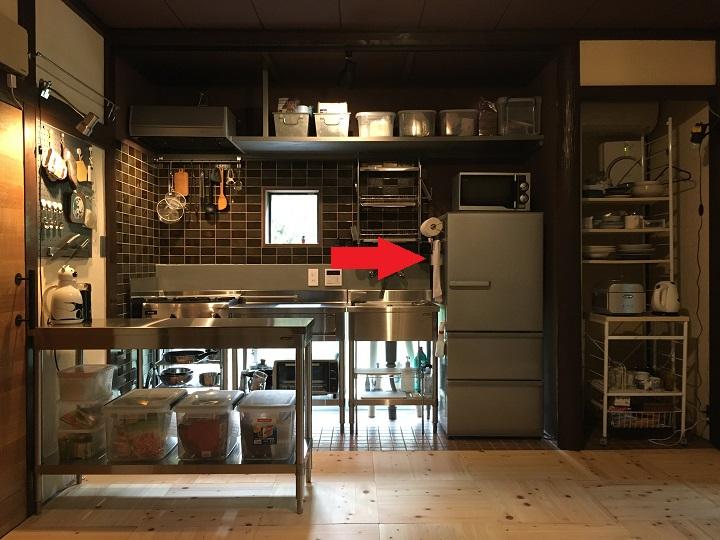 新キッチンの収納位置