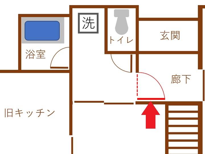 間取り図で見るドアの設置位置