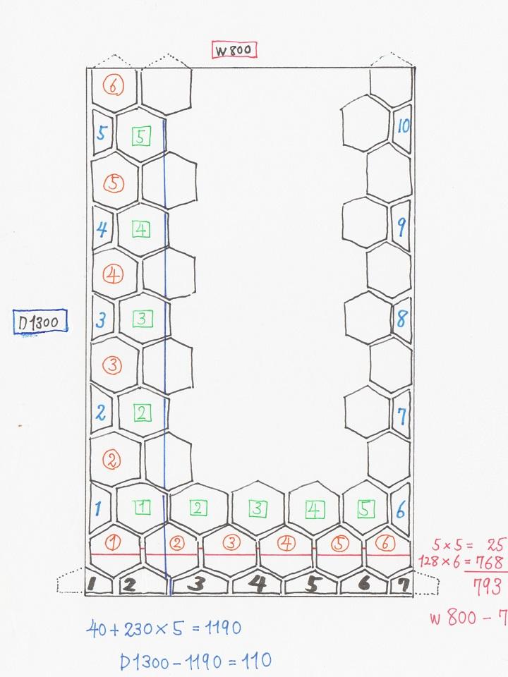 床タイルレイアウトイメージ図