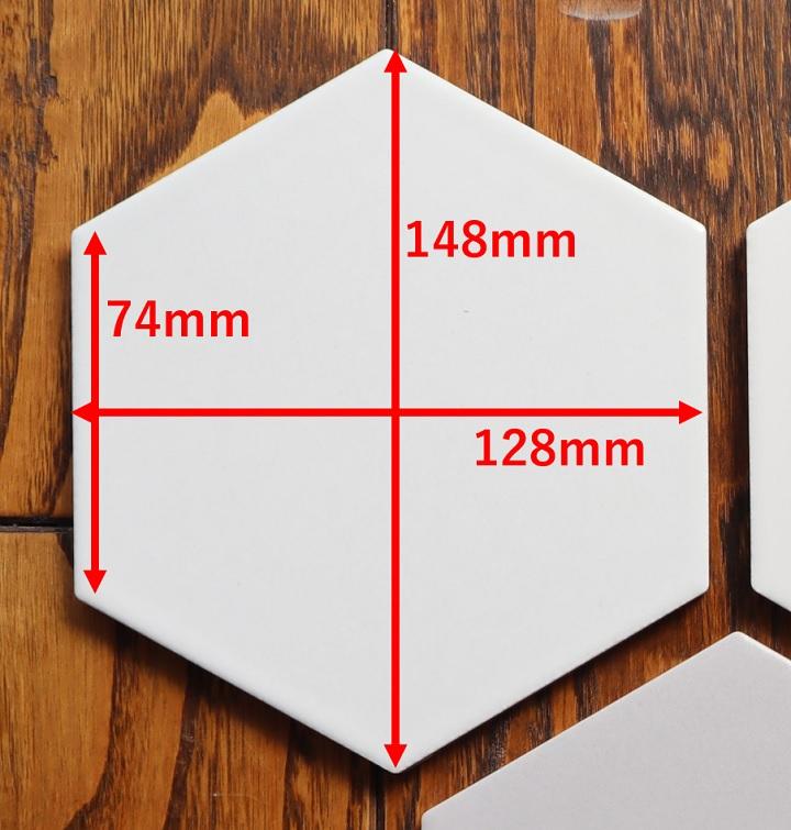 六角形タイルのサイズ