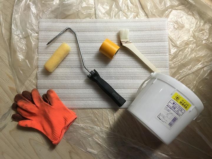 珪藻土塗料の塗装道具