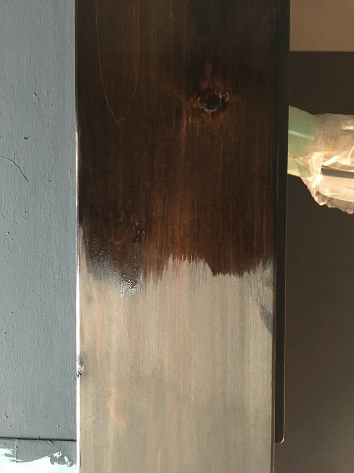 ワトコオイル塗装前と塗装後