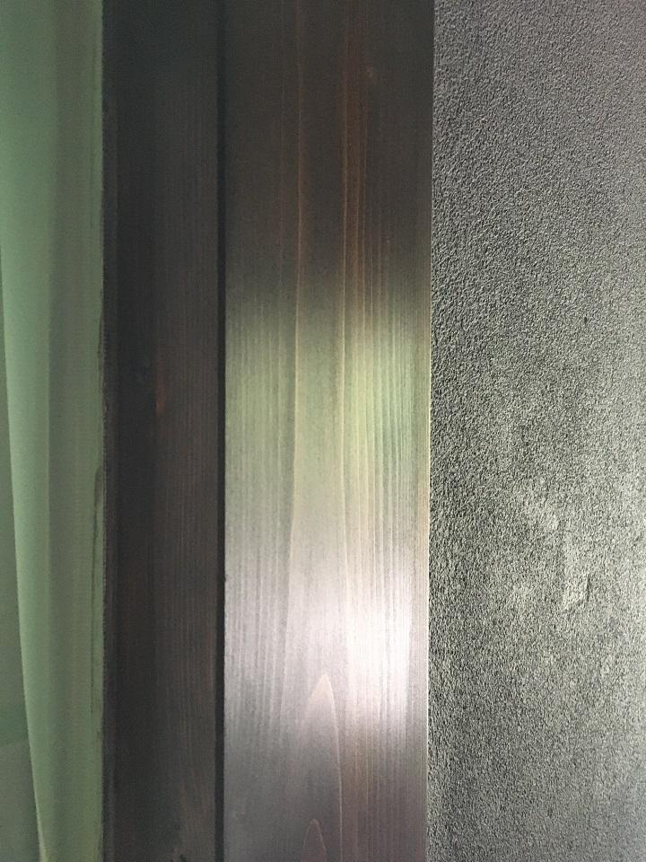 ワトコオイル塗装後の柱