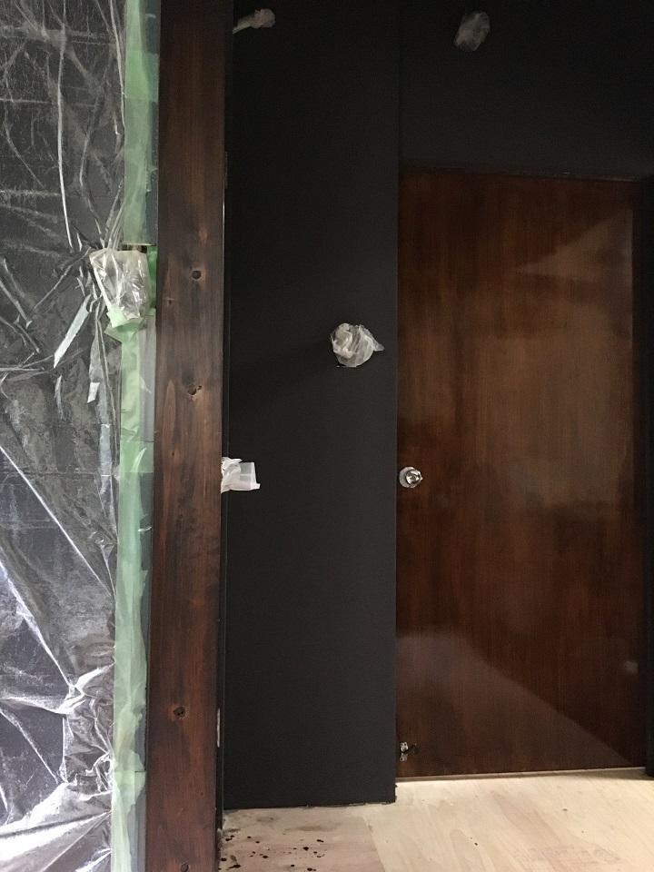 塗装完了後の室内